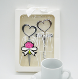 Pair Sweet Heart Wine Plug and Wine Opener