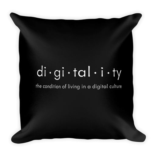 Digitality Black & White Square Pillow
