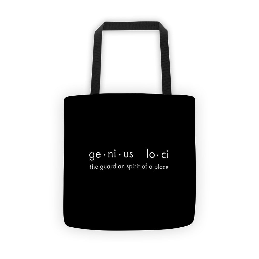 Genius Loci Black Tote Bag