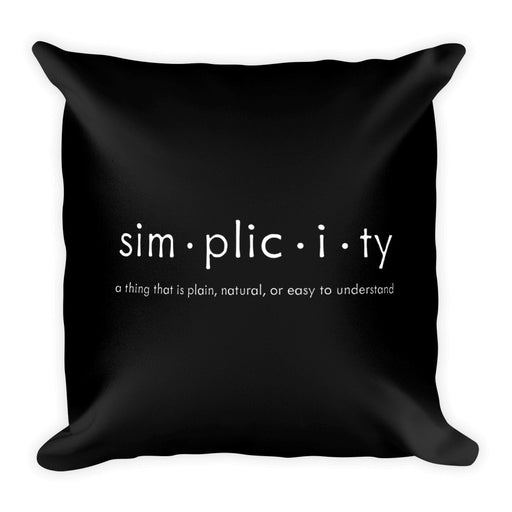 Simplicity Black & White Square Pillow