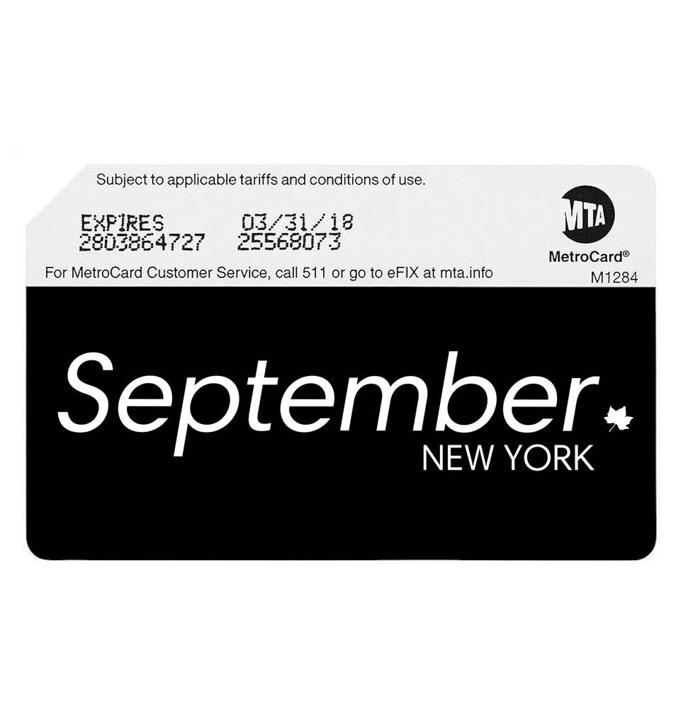 september new york subway card