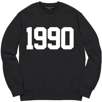 1990 Men's Signature Sweatshirt - September New York (visit septembernewyork.com)