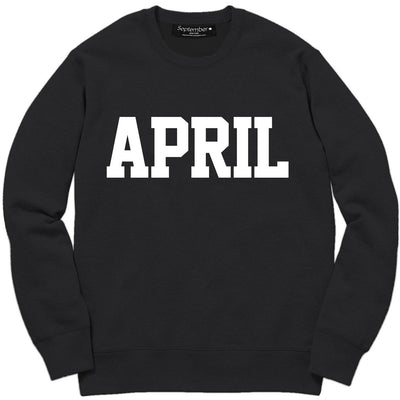 April Men's Sweatshirt - September New York (visit septembernewyork.com)