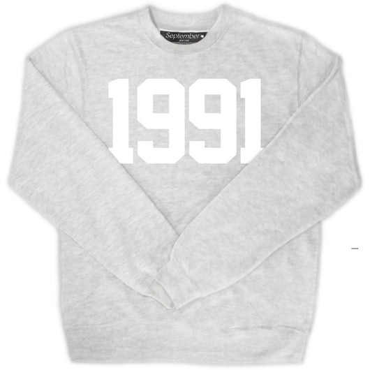 1991 Men's Signature Sweatshirt - September New York (visit septembernewyork.com)
