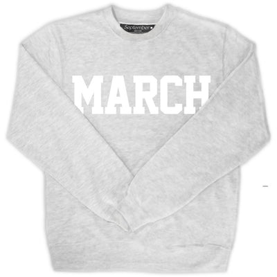 March Men's Sweatshirt - September New York (visit septembernewyork.com)
