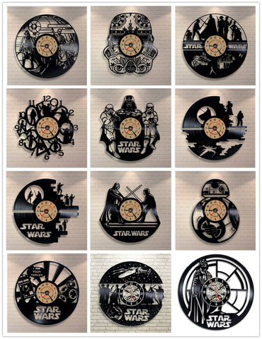 Star Wars Vinyl Record Wall Clock