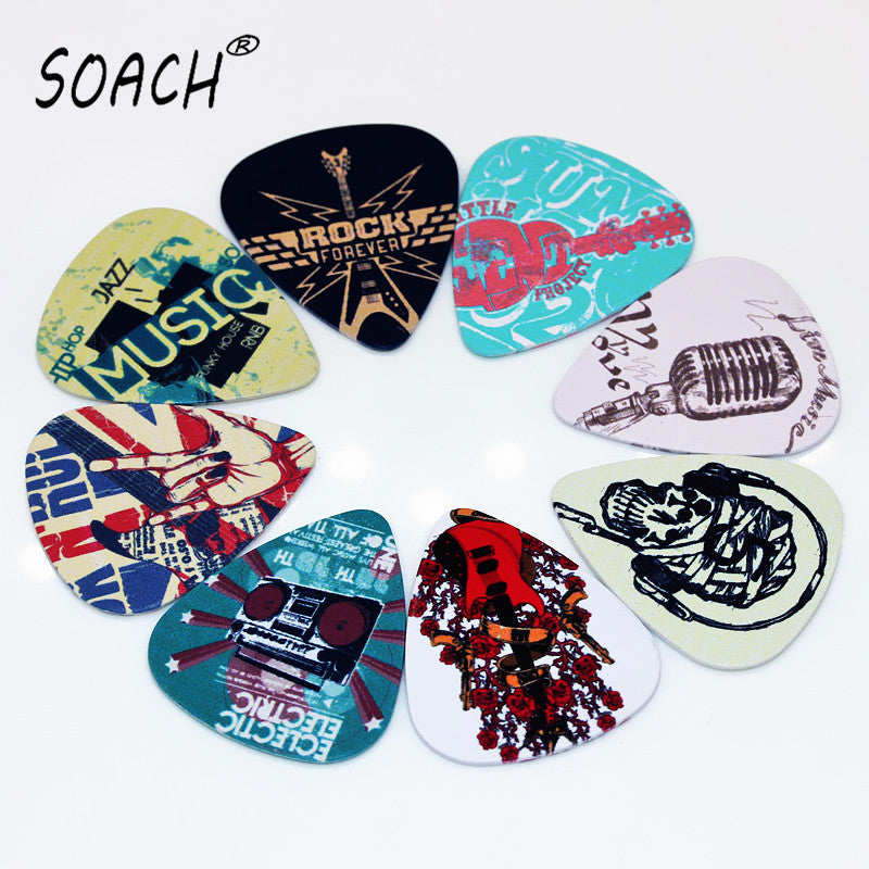 SOACH 10pcs Music Element Guitar Picks