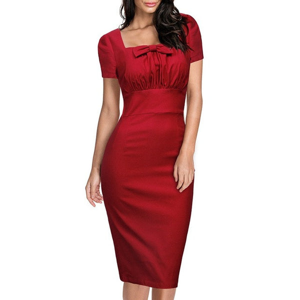 Retro Vintage Women's Pencil Dress