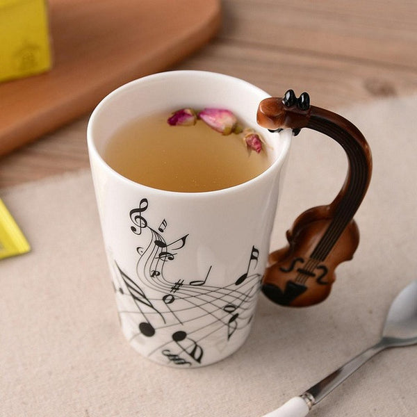 Music Design Ceramic Mugs