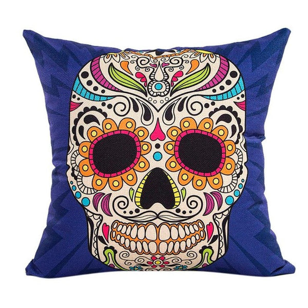Graphic Skull Throw Pillow Cover