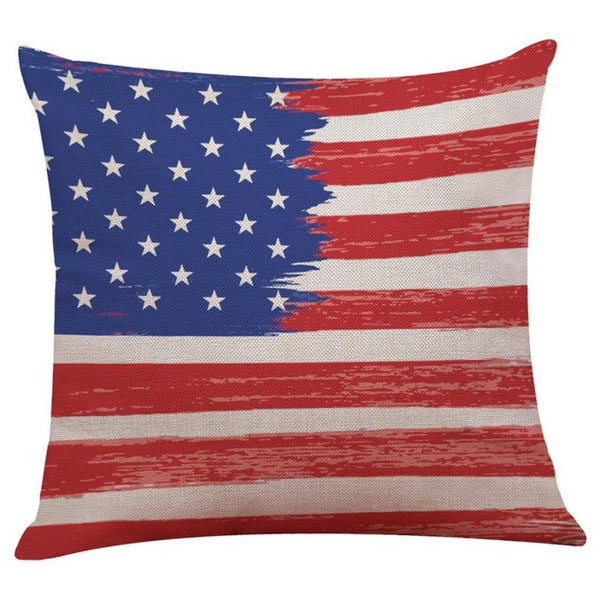 American Flag Decorative Throw Pillow Cover