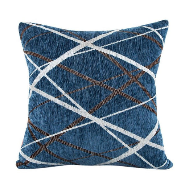 Geometric Design Knit Throw Pillow Cover