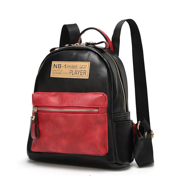Leather Patchwork Backpack