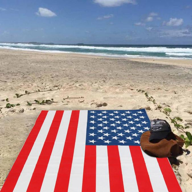 American Flag Beach or Shower Towel