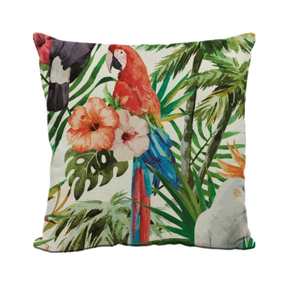 Jungle Print Decorative Throw Pillow Cover