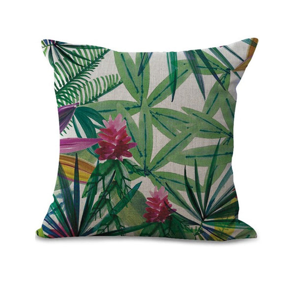 Ferns and Leaf Designs Decorative Throw Pillow Covers