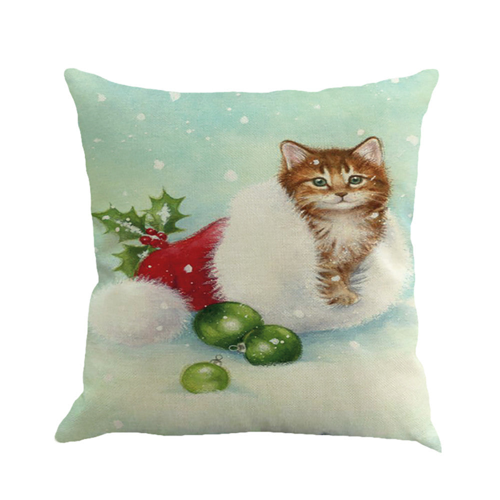 Christmas-cat-decorative-throw-pillow-cover-buyabargain