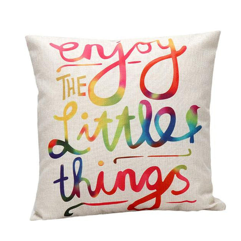 graphic-pillow-cover-enjoy-the-little-things-buyabargain