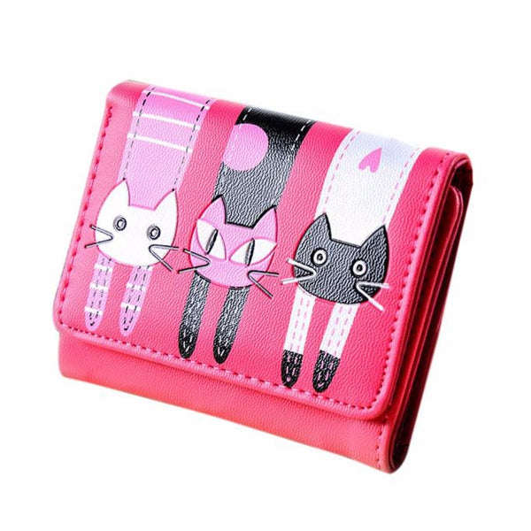 Cat Design Small Coin Purse Wallet
