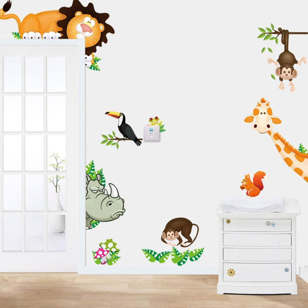 Jungle Animal Mural Wall Stickers