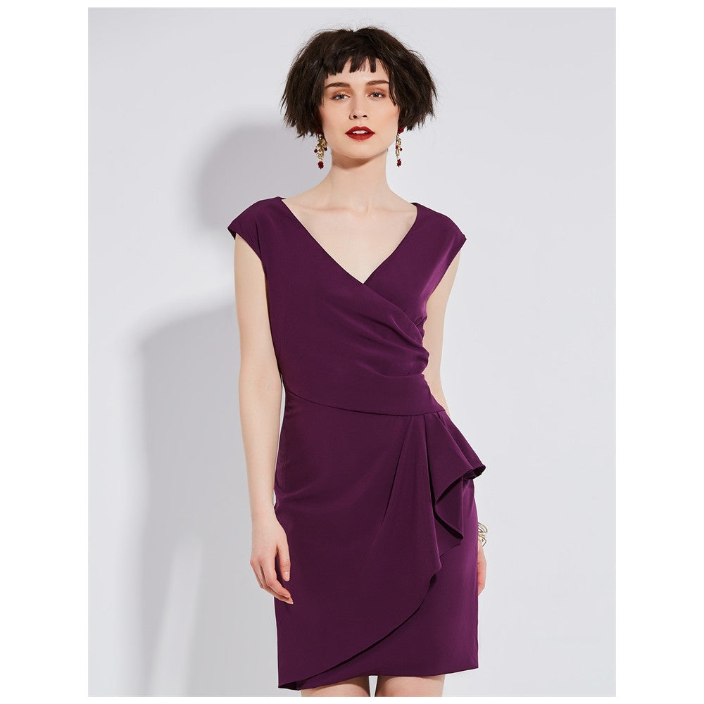 Sleeveless Evening Sheath Dress