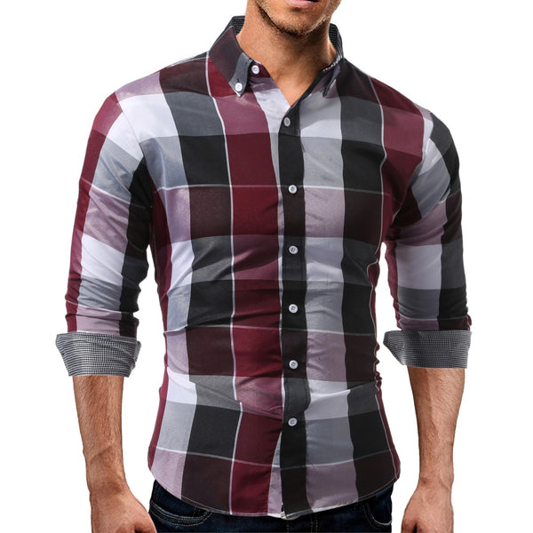 Men's Plaid Full Sleeve Slim Fit Shirt