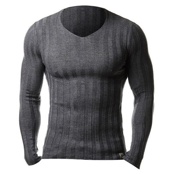 Men's Casual Knitted Pullover Sweater