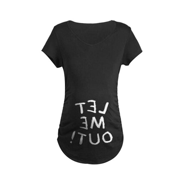 Let Me Out Graphic Maternity T-Shirt