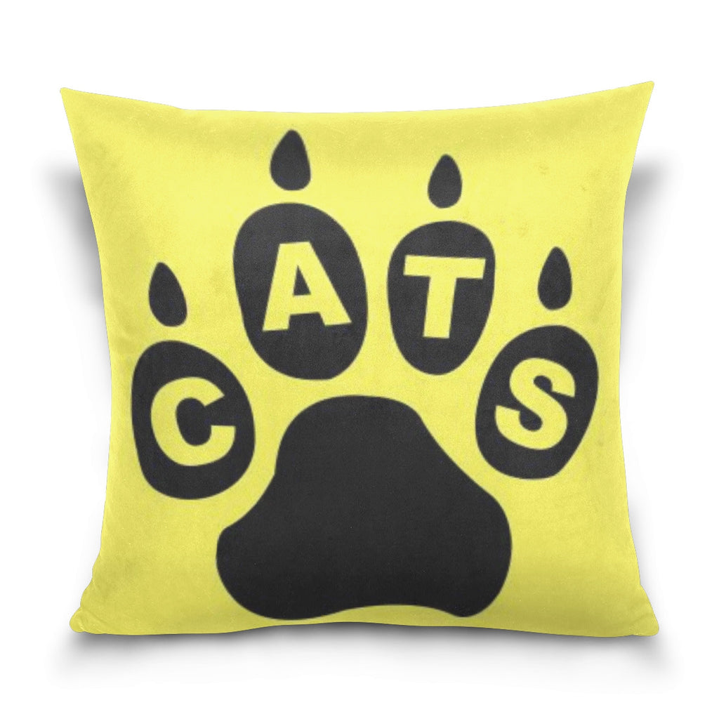 Cat Paw Graphic Throw Pillow