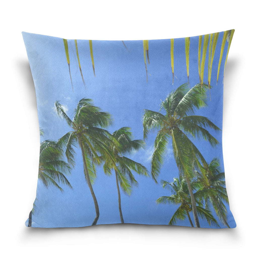 Palm Tree Design Decorative Throw Pillow