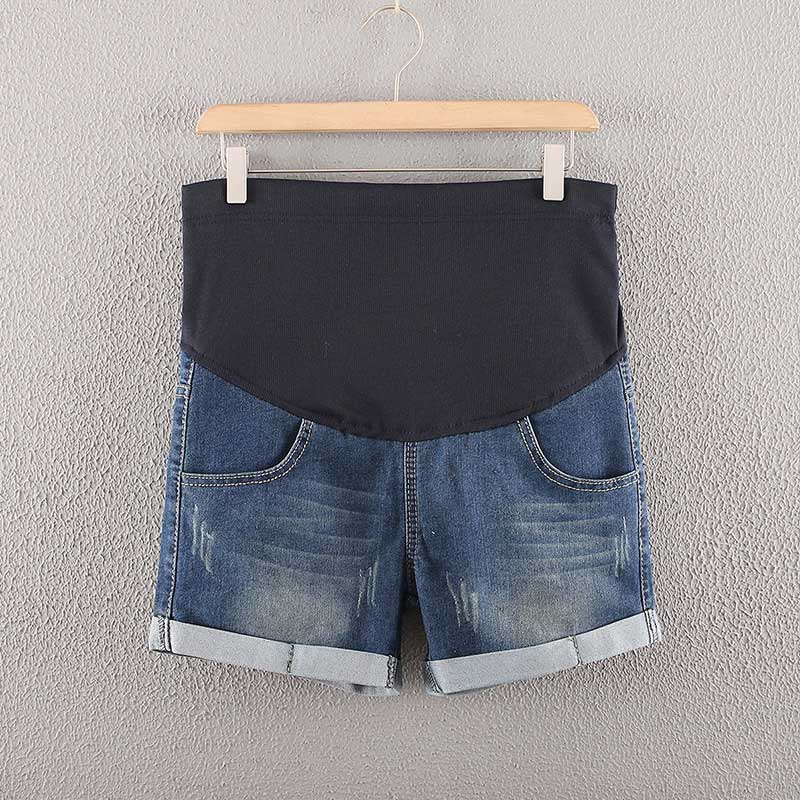 Cuffed Denim Maternity Shorts