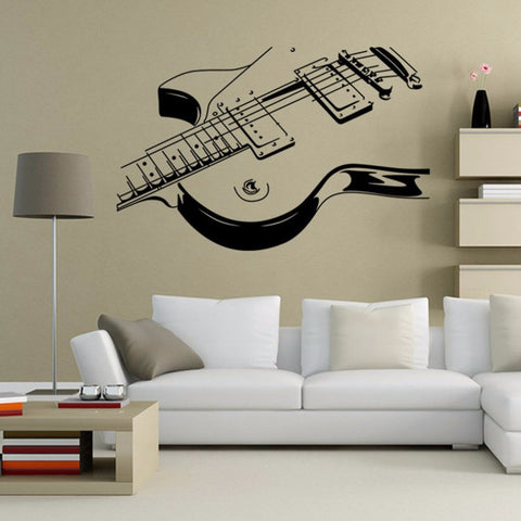 Large Guitar Wall Sticker Mural