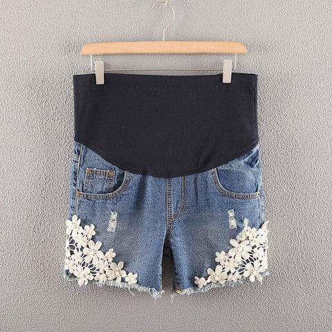crochet-denim-maternity-shorts-buyabargain
