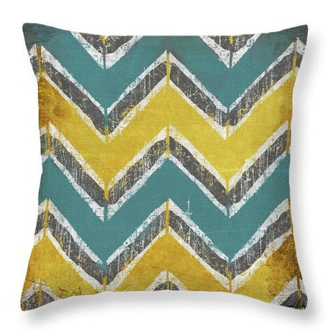 Teal And Gold Decorative Throw Pillow