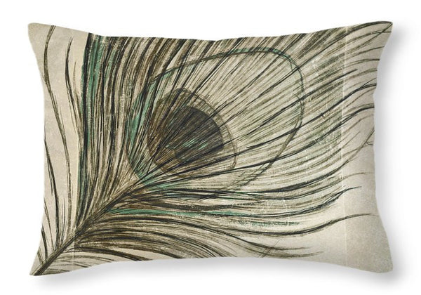 Peacock Feathers Decorative Throw Pillow