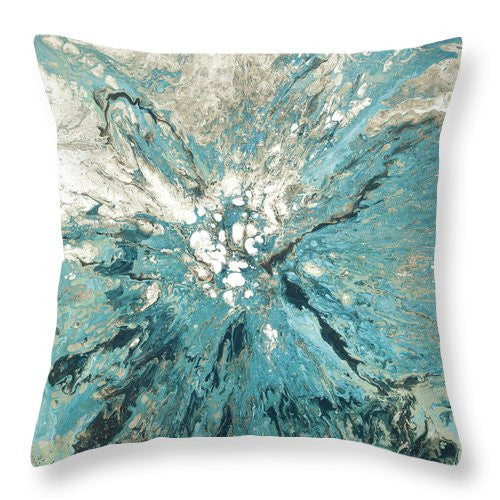 Splash of Teal Decorative Throw Pillow