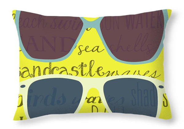 Sunglass Design Decorative Throw Pillow
