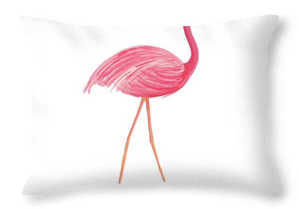 Flamingo Walk III Decorative Throw Pillow