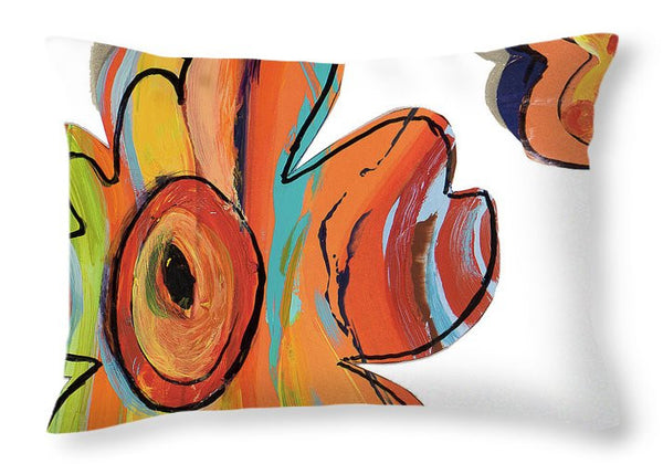 Collage Flowers I Decorative Throw Pillow