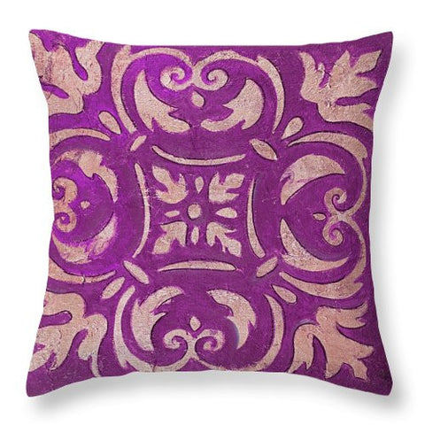 Purple Mosaic Madras Style Decorative Throw Pillow
