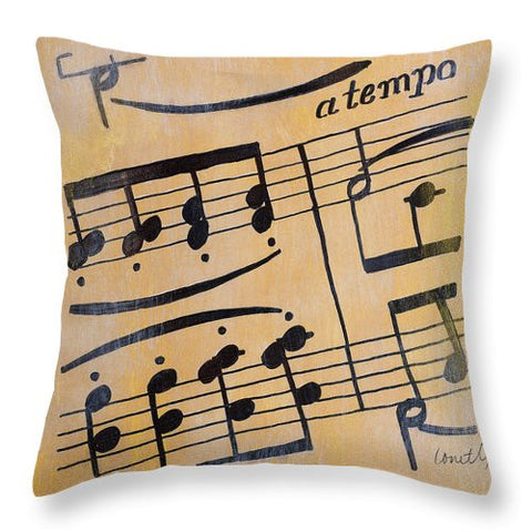 A Tempo II Decorative Throw Pillow