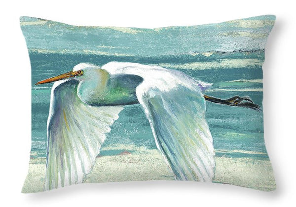 Great Egret II Decorative Throw Pillow