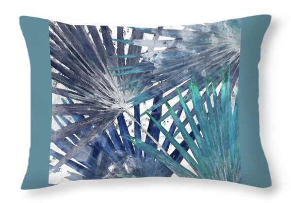Blue Organic Decorative Throw Pillow