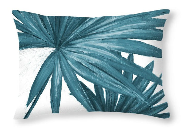 Blue Palmera II Decorative Throw Pillow