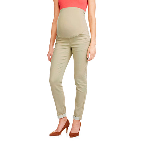 Maternity Stretch Jeans with Cuffs