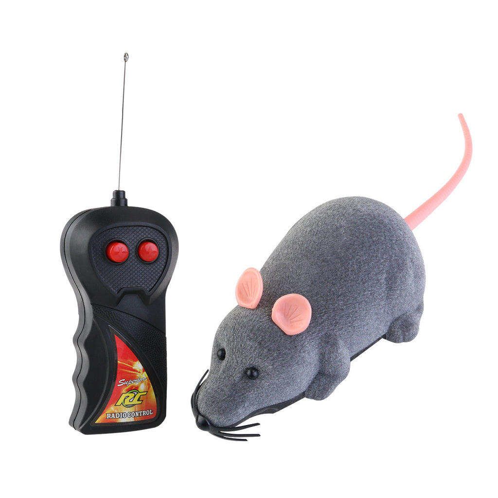 Remote Control Plush Mouse Toy for Cats
