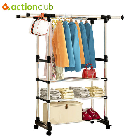 Folding Metal Clothes Rack
