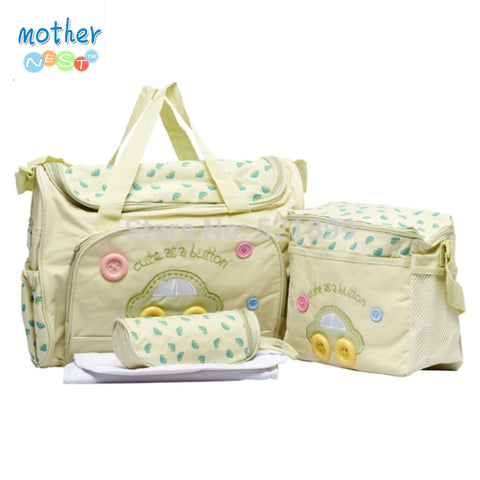 Designer Baby Diaper Tote Bag 4-Piece Set