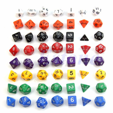 7 Sided Die DUNGEONS & DRAGONS Poly Dice