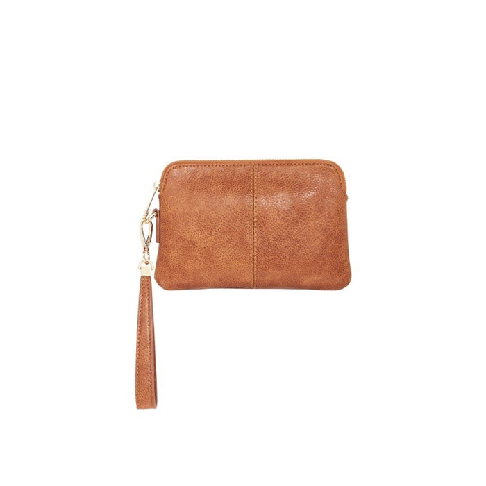 Elms & King Bowery Coin Purse Tan Pebble Afterpay available